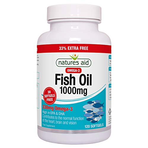 Natures Aid Fish Oil 1000mg 120 Softgels