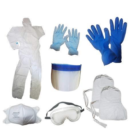 タイベック2型 防護服 感染症 防護対策 キット 化学防護服 セット ICY-35-2s Sサイズ