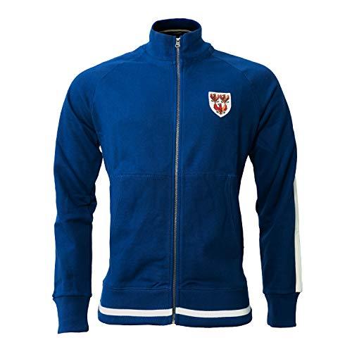 Oxford University Fleece Teddy Trui Jumper Blauw Rits Crest L