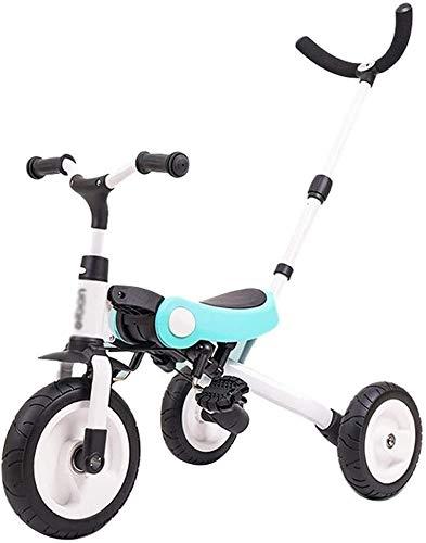 Xiaoyue Fahrräder Kinder Tricycle Jungen und Mädchen 3~10 Jahre alt Fahrrad Faltbarer Kinderwagen Indoor Heimtrainer (Farbe: Rot, Größe: A) lalay (Color : Blue, Size : B)