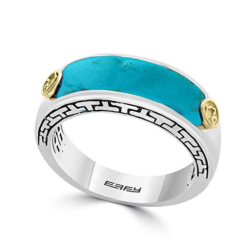Effy 925 Sterling Silver & 18K Yellow Gold Turquoise Ring, 0.3 TCW IRL0J760T1