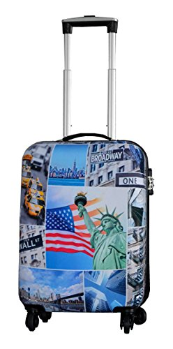 Valise Cabine 4 Roues Motifs New York Robuste-Snowball.