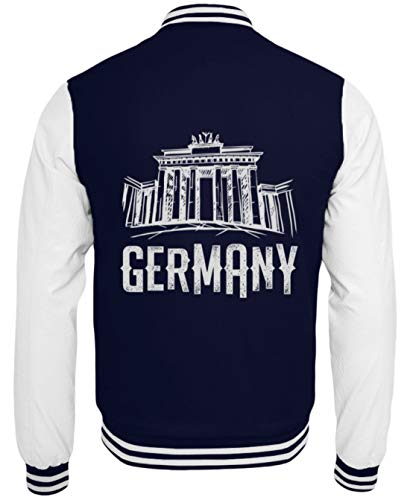 Schuhboutique Doris Finke UG (haftungsbeschränkt) Deutschland Brandenbuerger Tor Berlin - College Sweatjacke -XL-Dunkelblau-Weiss