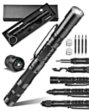 12-IN-1 Tactical Pen Multitool Pen, Survival Pen for Self Defense, LED Flashlight, Ballpoint, Compass, Bottle Opener, Gift for Men, Boyfriend Husband Fathers, Birthday Valentines Christmas Day Gifts
