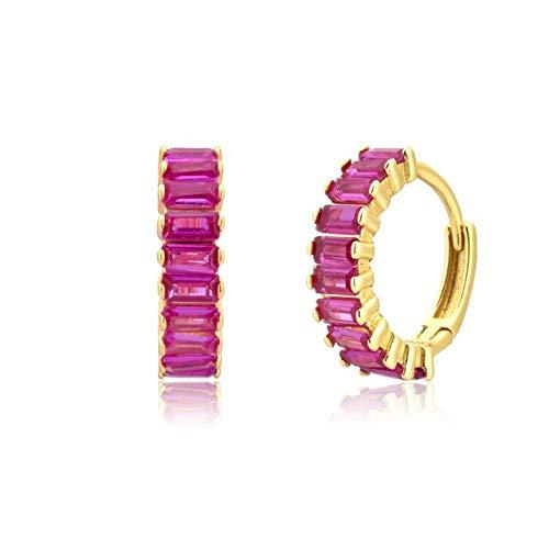 KEJI Pendiente De Gota De Turquesa Colorida De Verano De Plata De Ley 925, Mezcla De Joyería De Lujo De Arco Iris Rojo Rosa para Mujer