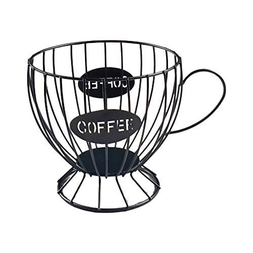 AERVEAL Opslag Rack,Koffie Capsule Cup Geweven Ijzerdraad Holle Opslag Frame Fruit Snack Mand
