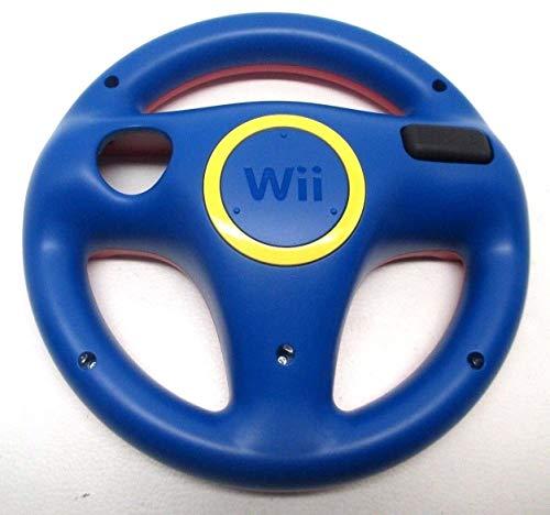Official Nintendo Wii Steering Wheel RVL-024 Mario Kart ~ Red / Blue RVL-HAK-USZ (Renewed)