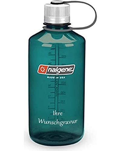 Nalgene Trinkflasche 'Everyday' – 1L (Türkis, mit Namensgravur, 1 L)