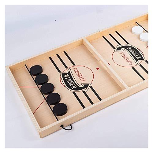 ZeYuKeJi Schnell Sling Puck Tabelle Spiel, Holz Durable Air Hockey Brettspiel Spielzeug, Foosball Schleuder Spielbrett, Eltern-Kind-Interaktives Spiel Schach Prop (Size : Small Size)