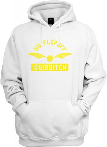 Hufflepuff Quidditch Hooded Sweatshirt (White/Canary) 2X-Large [P