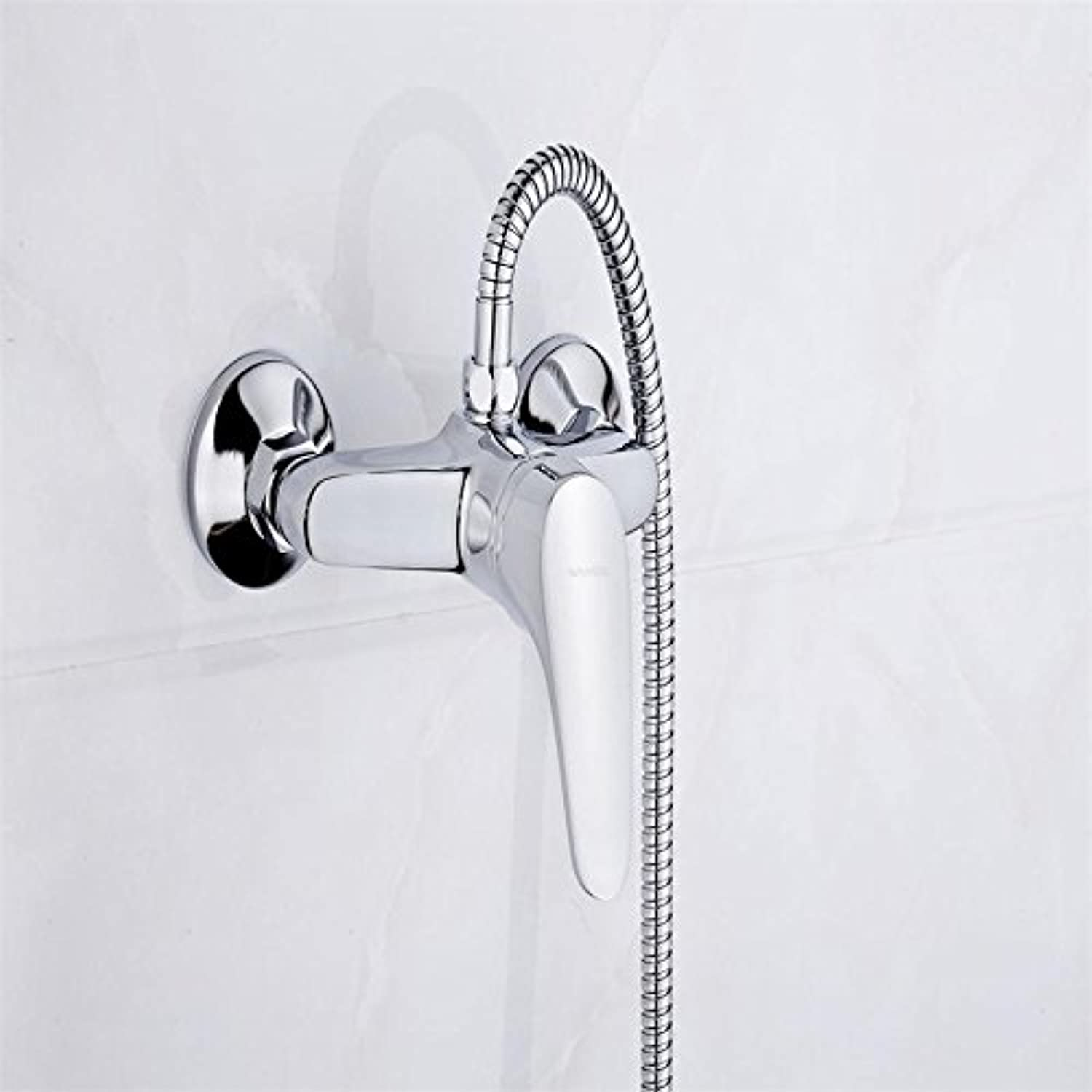 Wangel Set Classic Style Single Handle Solid Brass Bathroom Faucet Shower Tap Cold and Hot Water Mixer 5948,59484B UP