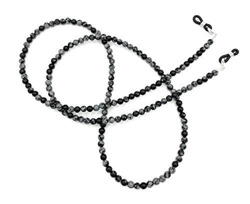 'Gafas Banda/Cadena de Acero steienen Copos de Nieve Obsidian be de 1019