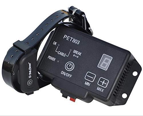 PATPET Valla Invisible y Collares antifuga para Perros/área Grande de la Cobertura para el Radio 300 Metros/3 Diversos Niveles/Seguro y fácil instalan