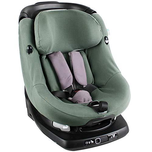 Bezug Maxi-Cosi AxissFIX Kindersitz Dunkelgrün einfarbig Schweißabsorbierend und weich für Ihr Kind Schützt vor Verschleiß und Abnutzung Öko-Tex 100 Baumwolle