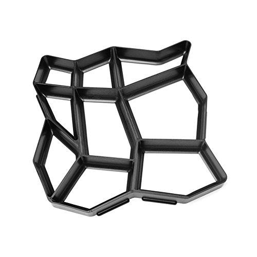 GEZICHTA 43,5* Motiv Schwarze Katze manuell Pflastersteine Zement Brick Stone Road DIY Form Kunststoff Path Maker Form