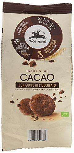 Alce Nero Galletas Cacao con Pepitas de Chocolate Bio, 250g