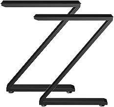2 stks Z-Shape Metalen Meubelpoten, H 28.5 x W 21.6 inch tafelpoten, zware bureau benen, eettafel benen, industriële moder...