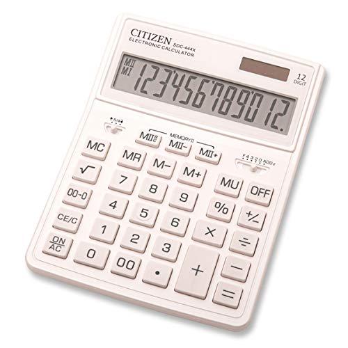 Citizen SDC-444X Tischrechner Weiß...