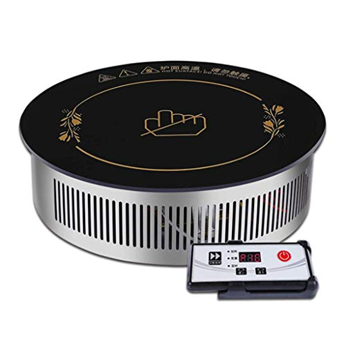Quemador de doble anillo de la encimera, el hogar y la placa de calefacción eléctrica de infrarrojo lejano comercial, el panel de cristal negro estufa, de control de alambre del fuego-control 10 veloc