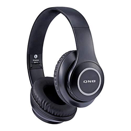 FXMINLHY draadloze Bluetooth headset HiFi muziek hoofdtelefoon noise cancelling hoofdtelefoon voor kinderen Nieuwjaar cadeau iOS Android smartphone tablet pc zwart