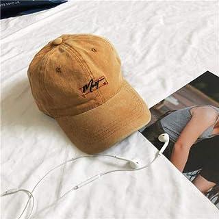 DUOLUO ストリートソフトトップカジュアルカーブキャップ男性と女性のレトロな古い洗った文字野球帽韓国語版