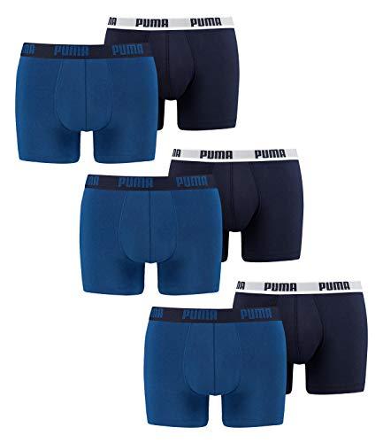 PUMA Biancheria intima (6 Pacchi) boxer per uomo (Grande (L), Marino / Blu)