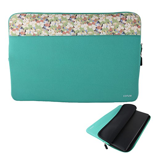 Conze 8inch Tablet Sleeve Water-Resistant Protective Case Pouch Cover/Briefcase Carrying Bag Compatible with Samsung Galaxy J Max/Tab A (2016) in Emerald Green