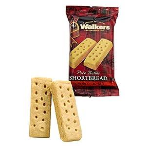 Walkers Shortbread Fingers Shortbread Cookies Snack Packs, pack of 2 x 24 count- (total 48 individual cookies)