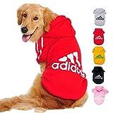 Ducomi Adidog - Sudadera con Capucha para Perros en Algodón Suave - Costuras Resistentes - Disponibles de XS a 8XL - Se envía Desde España (7XL, Rojo)