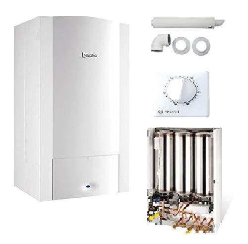 Caldera de pared de gas ODEALIS GVT C 24-2M CONDENS elm LEBLANCO COMPLETE (dosseret + ventosa + termostato ELM TRL22)