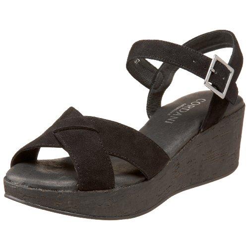 Cordani Women's Candy Wedge Sandal,Black Suede,36 EU (US Women's 6 M)