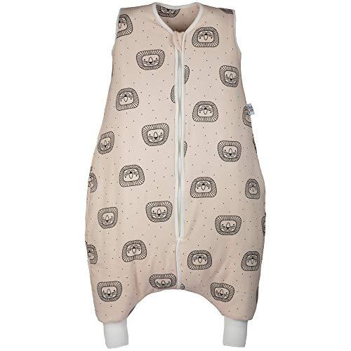 Hosenmax Babyschlafsack mit Beinen – Bio Baumwolle – Ganzjahres Schlafsack Baby – Verspielter Löwe Größe 90 cm – Gratis E-Book