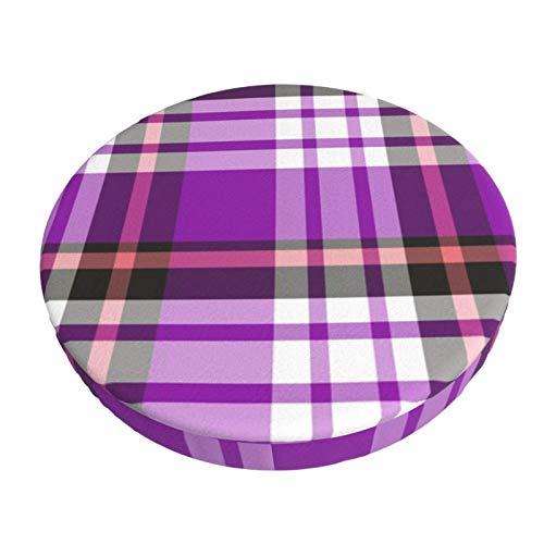 Funda de Asiento para Silla Tela Escocesa Negra Material Ploiéster Duradero Fundas Decorativas para sillas de Comedor 13in