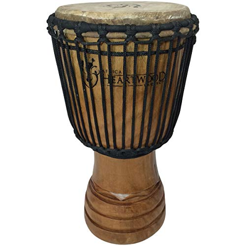 Hand-carved Djembe Drum From Africa - 9