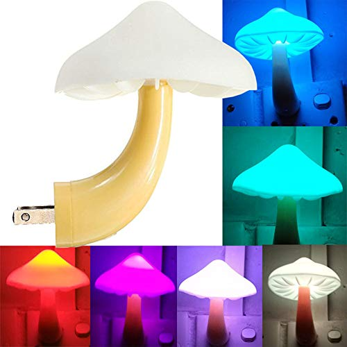 AUSAYE LED Night Light Plug in Lamp Mushroom Night Light 7-Color Changing Magic Mini Pretty Mushroom-Shaped Night Lights