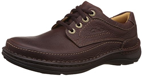 Clarks Nature Three Herren Derby Schnürhalbschuhe, Braun (Mahogany Leather), 45 EU