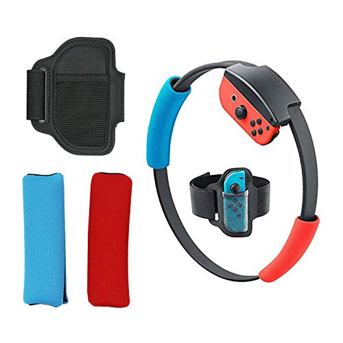 Mcbazel Adjustable Elastic Leg Strap Non-slip Controller Cloth Cover Ring Grips For NS Switch JoyCon