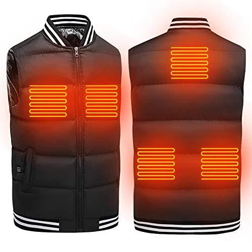 Ygccw beheizbare Weste Elektrische Beheizte Jacke,Geeignet für Outdoor-Sportarten,Outdoor Reisen Motorsport Radfahren Skifahren