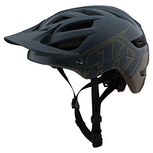 Troy Lee Designs Adult   Trail   All Mountain   Mountain Bike A1 MIPS Classic Helmet (MD/LG, Gray/Walnut)