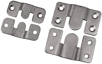 M/öbelverbinder//Bettverbinder gelb verzinkt in 2 Gr/ö/ßen zum ausw/ählen 20x60mm und 35x52mm 35x52mm
