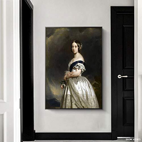 zangtang handbeschilderd, olieverfschilderij, koningin, célebra-oog, portret, koningin, schilderen, gravure, zonder lijst, schilderen, huis, wanddecoratie