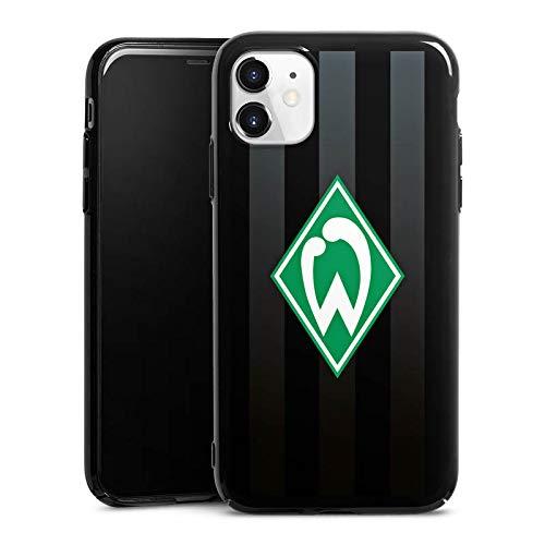 DeinDesign Hard Case kompatibel mit Apple iPhone 11 Schutzhülle schwarz Smartphone Backcover Offizielles Lizenzprodukt SV Werder Bremen Streifen