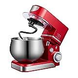 QuRRong Batidora Amasadora Soporte Mezclador Crema Huevo Batería Blender Pastel Pasta Maker 5L para Glasear Merengues (Color : Red, Size : 5L)