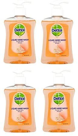 Dettol Moisture - Pomelo (250 ml, 4 unidades)