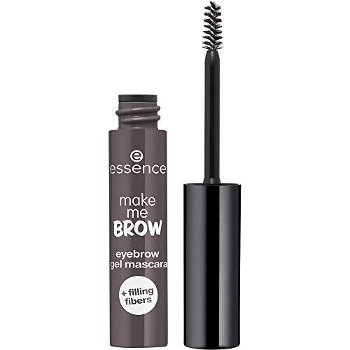 essence make me BROW eyebrow gel mascara, Nr. 04 Ashy Brows, braun, definierend, gelig, vegan, Nanopartikel frei, ohne Parfüm, 3er Pack (3 x 3,8ml)
