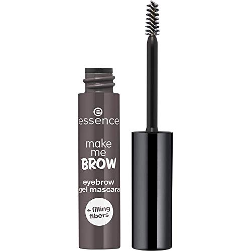 essence make me BROW eyebrow gel mascara, Nr. 04 Ashy Brows, braun, definierend, gelig, vegan, Nanopartikel frei, ohne Parfüm, 3er Pack (3 x 3,8ml)