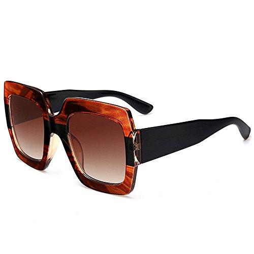 GWF Oversized gekleurde zonnebril voor mannen, UV-bescherming voor het rijden op vakantie, zomer, strand C5