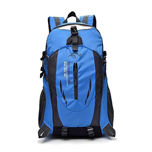 Cicilin, zaino da trekking leggero da 40 l, multifunzionale, impermeabile, casual, da campeggio, trekking, per ciclismo, viaggi, arrampicata, alpinismo, sport all'aria aperta, Blu (Blu) - CI.10BB027-3