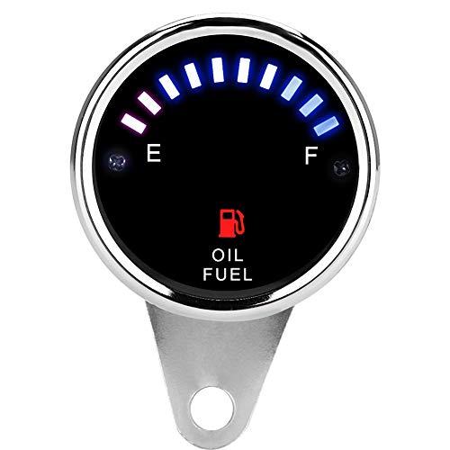 Gorgeri DC 12V Universal Motorrad Auto LED-Anzeige Elektrische Kraftstoffanzeige Elektronische Ölanzeige