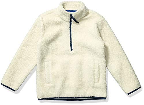Amazon Essentials Quarter-Zip High-Pile Polar Fleece outerwear-jackets, natur, Large